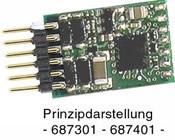 DCC-decoder with 6-pole plug