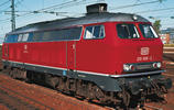German Diesel Locomotive Class 210 with gas turbine drive of the DB (Sound)