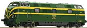 Spanish Diesel locomotive series 340 of the RENFE (Sound)