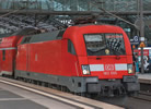 German Electric locomotive BR182 of the DB AG