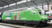 Swiss Electric Re 460 Migros of the SBB