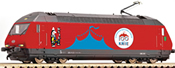 Swiss Electric locomotive 460 058-1 Circus Knie of the SBB (Sound)