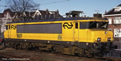 Dutch Electric locomotive 1601 of the NS (Sound)