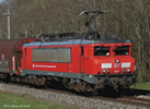 German Electric locomotive 1616 of the DB AG (Sound)
