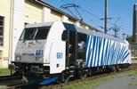 German Electric Locomotive BR 185.2 Locomotion blue