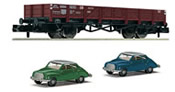 Gondola car type X 90 with 2 car models DKW