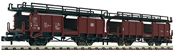Double deck coach carrier for goods trains
