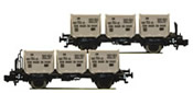 "2 piece set container carrier wagons ""Von Haus zu Haus"" DB"
