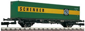 German 2-axle Container Car Schenker of the DB