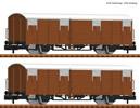2 piece set boxcars