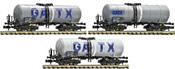 Austrian 4-axle Tank Car Set (3-cars) GATX leased to the NS