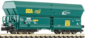 Belgian High Capacity Self-unloading Hopper SEA-RAIL of the  SNCB