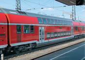 Double-decker coach 2nd class, type DBpza 780.1, of the DB AG