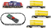 Swiss Digital Starter Set w. BR 203 and 3 Container Cars of the SBB