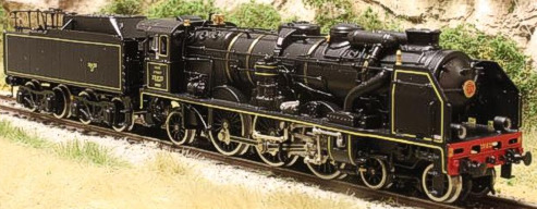 Fulgurex 11583d - SNCF Class 231 Pacific - Black Livery DCC Digital Version