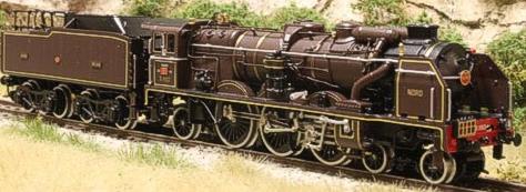 Fulgurex 1158d - Nord Class 231 Chapelon Pacific - Brown Livery DCC Digital Version