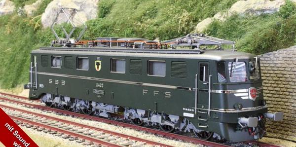 Fulgurex 22521 - Swiss SBB/CFF Ae6/6 Heavy Electric  with URI Canton