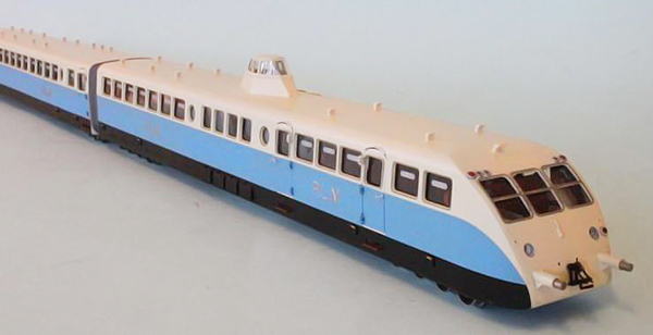 Fulgurex 22553-A - Bugatti Diesel Dual Railcar of the PLM Railroad Présidentiel Blue/Beige Livery
