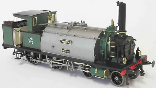 Fulgurex 22631 - Swiss Steam Locomotive Ec 2/4 of the Jura-Simplon