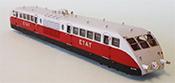 Bugatti Diesel Railcar of the ETAT Railroad  Présidentiel Red/Grey Livery