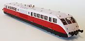 Bugatti Diesel Railcar of the SNCF Railroad  Présidentiel Red/Grey Livery