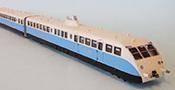 Bugatti Diesel Dual Railcar of the PLM Railroad Présidentiel Blue/Beige Livery