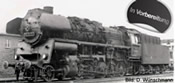 German Steam Locomotive 58 3021-1 of the DR