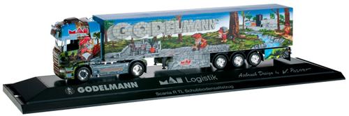 Herpa 121583 - Scania R TL Semi Godelmann II