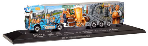 Herpa 121774 - DAF XF SSC Reefer Semi P.C. History Of Beer