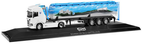Herpa 121880 - Scania CR Hd, Tanker Semi P.C. Edgar Grass