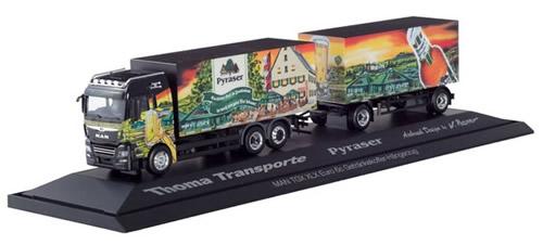 Herpa 121941 - MAN TGX XLX Semi Beer Truck, Pyraser/Thoma Transp...