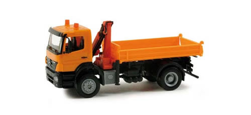 Herpa 155649 - MB Axor all whell dumper w/loading crane communal