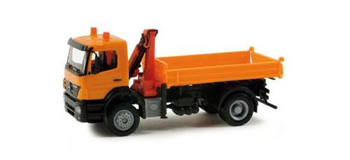 Herpa 155649 - MB Axor all whell dumper w/loading crane communal