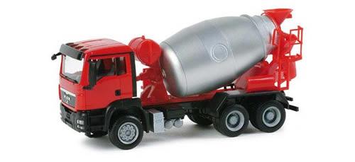 Herpa 156776 - MAN TGS M concrete mixer truck 6*6 Allrad