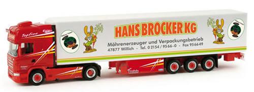Herpa 158046 - Scania R TL Reefer Semi (50.95) Brocker