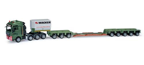 Herpa 159654 - MAN TGX XXL 680 low boy semitrailer Wacker