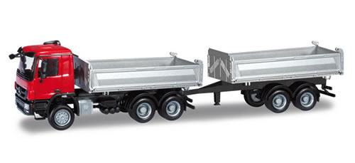 Herpa 159791 - Mercedes-Benz Actros M ´08 tandem dump truck with trailer Meiller