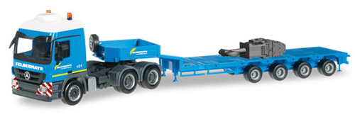 Herpa 303897 - Mercedes Actros, (105.00) Hook Blocks Crane Felbe...