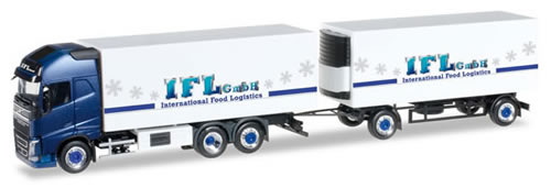 Herpa 305822 - Volvo FH GL Reefer Semi (62.95) Ifl Cologne