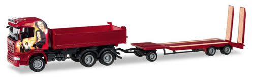 Herpa 307239 - Scania R ($ 83.95) Dump Truck And Trailer Heidema...