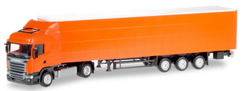 Herpa 307451 - Mercedes Actros Curtain Semi Undecorated
