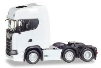 Herpa 307543 - Scania CR 20 HD Tractor, 6X2 White