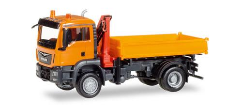 Herpa 308267 - MAN TGS M 3-Way Dump W/Hoist