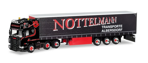 Herpa 308496 - Scania R TL Curtain Canvas Semi Nottelmann