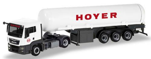 Herpa 308618 - MAN TGS L Tanker Semi Hoyer
