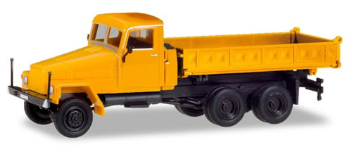 Herpa 308663 - Ifa G5 3-Way Dump Orange, Modified Cab