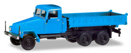 Herpa 308670 - Ifa G5 3-Way Dump Blue, Modified Cab