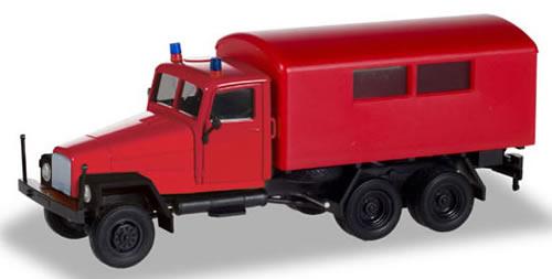 Herpa 308731 - Ifa G5 Box Truck Fire Brigade