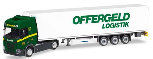 Herpa 308755 - Scania CR Reefer Semi Offergeld Logistik