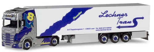 Herpa 308861 - Scania Cs, Reefer Semi Lechner Trans